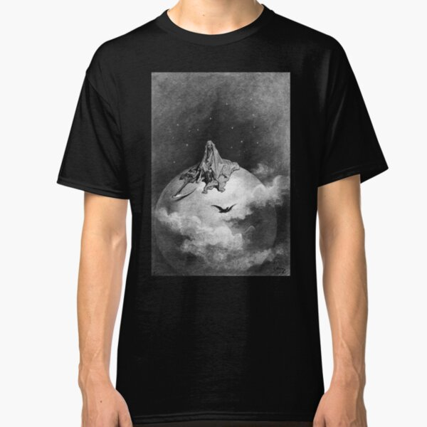 Gustave Dore. 1883, Illustration, Edgar Allan Poe, THE RAVEN. Classic T-Shirt