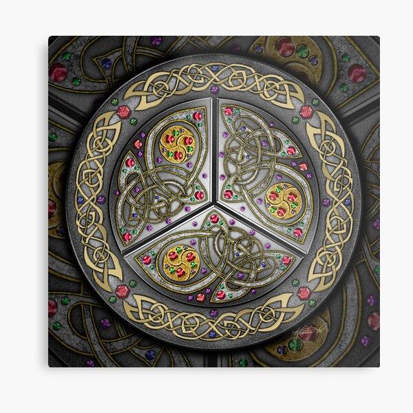 Bejeweled Celtic Shield Metal Print