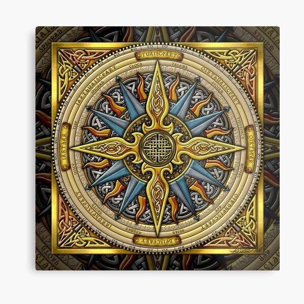 Celtic Compass Metal Print