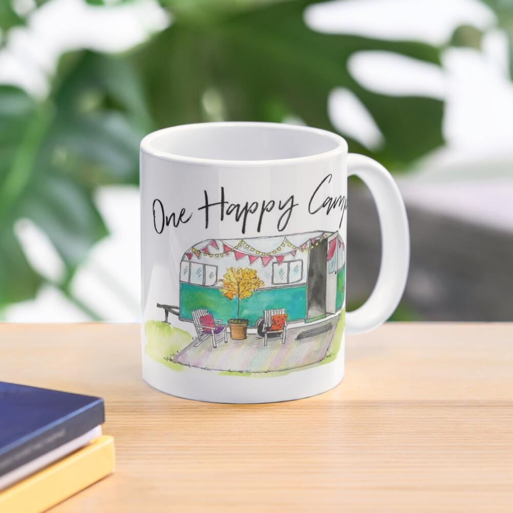Happy Camper-Vintage Camper Watercolor Mug