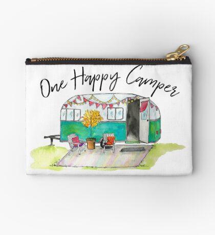 Happy Camper-Vintage Camper Watercolor Studio Pouch