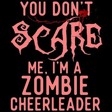 Funny Zombie Cheerleader Shirts Halloween Costume Gag Joke by Bronby