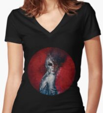 Indifference Women's Fitted V-Neck T-Shirt