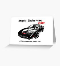 Knight Industries 2000 (K.I.T.T) - Autonomous cars since 1982 Greeting Card