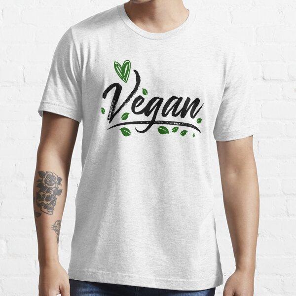 Vegan Shirt Vegetarian Gifts Heart Animals Veggie Vegetarian Essential T-Shirt