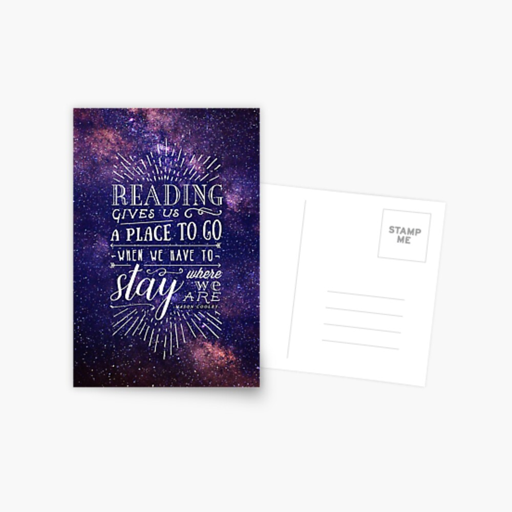 Reading gives us a place Postcard