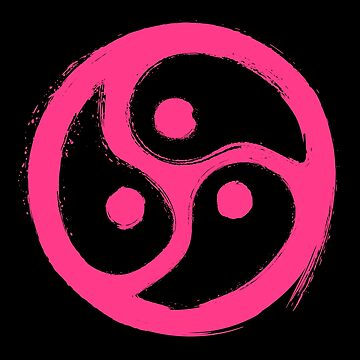 Pink BDSM Triskelion Grunge  by WingMarks