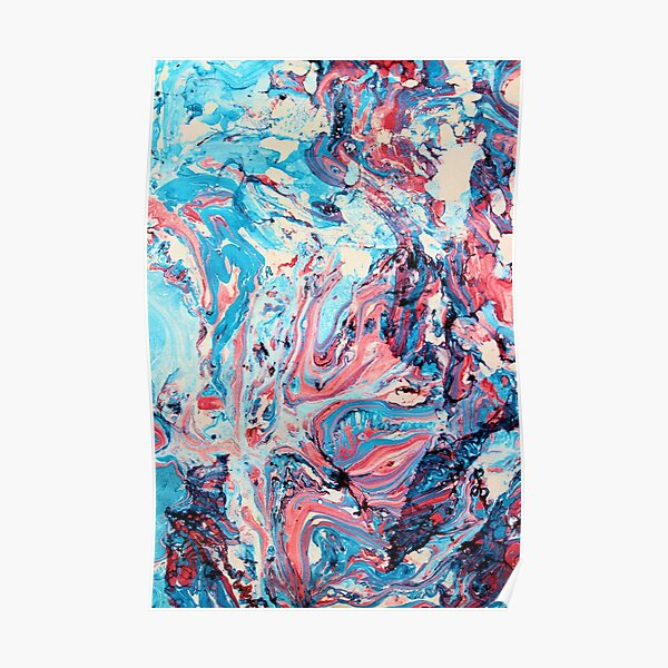 Marbled abstract Poster