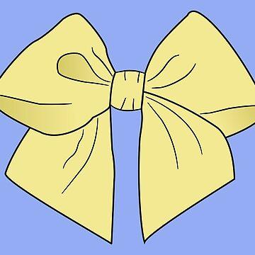 Sunny Yellow Vector Bow  by LozMac