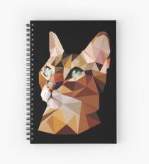 Geometric Bengal Cat Spiral Notebook