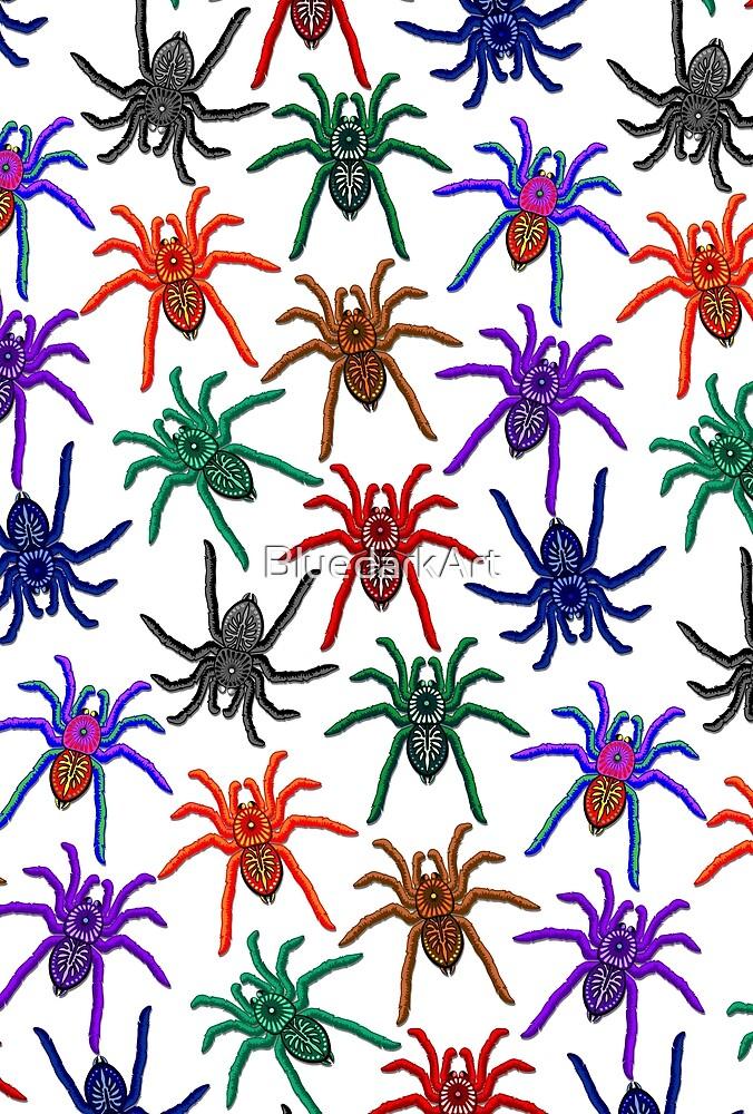 Spiders Colorful Halloween Tarantulas Pattern by BluedarkArt