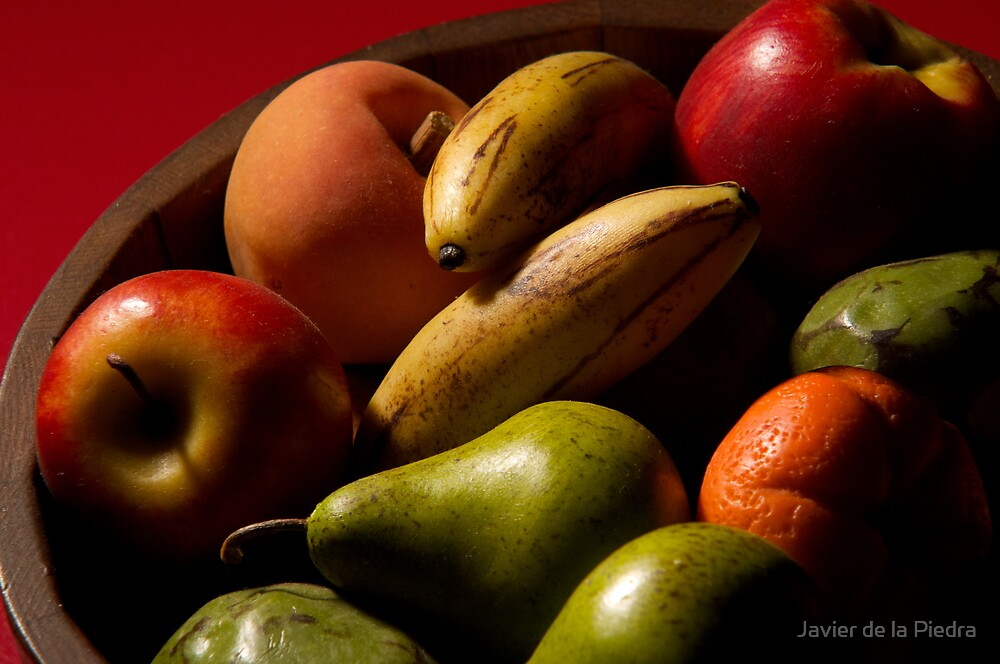 Bucket of fruit by Javier de la Piedra