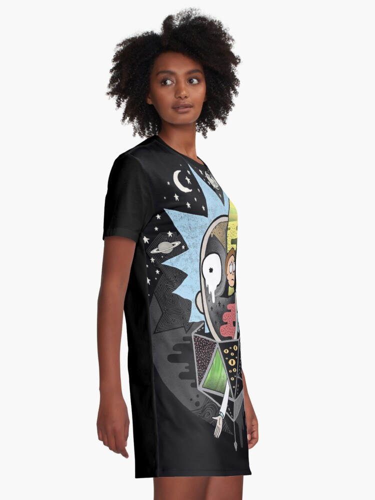 Alternate view of Rick Polarity Graphic T-Shirt Dress