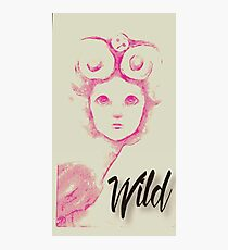 Pink Ink drawing for Inktober of Marie Antoinette Inspired Fairy and Her Owl Photographic Print