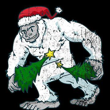 Yeti Bigfoot Christmas Comic by ShirtMeUp