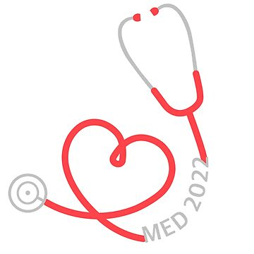Med 2022 red stethoscope by ArtsyPortrait