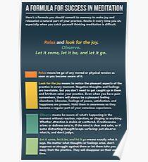 Mindfulness Meditation Infographic Poster