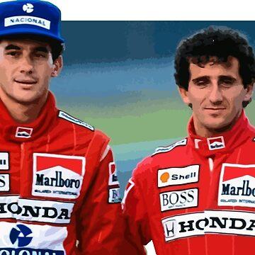 Prost x Senna by opngoo