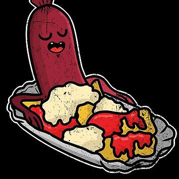 Bratwurst Ketchup Comic by ShirtMeUp