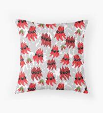 Australian Sturt Desert Pea Pattern Throw Pillow
