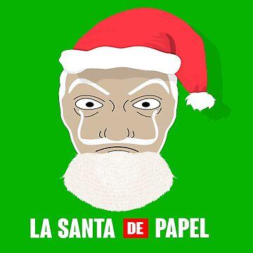 La casa de papel - Christmas santa - Funny tv-series by izikil