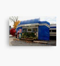 Blue Benn Diner Canvas Print