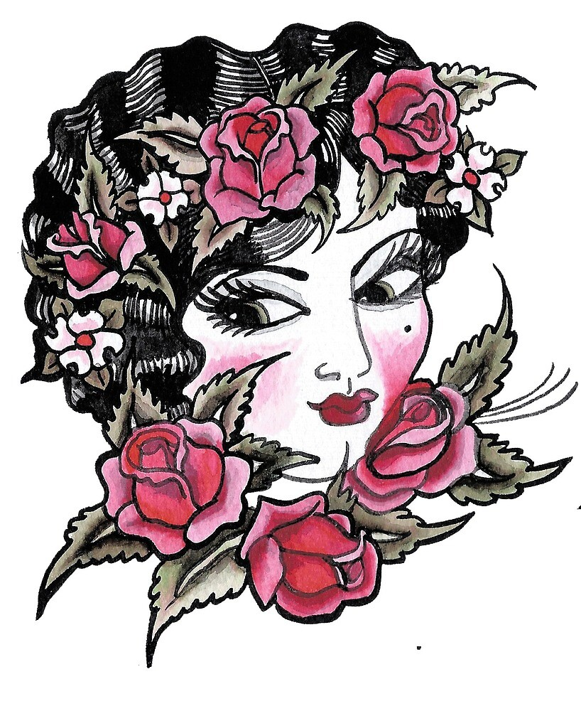 Blushing Rose Ladyhead by Nixie Vly