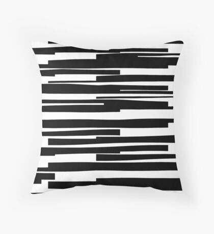 Organic No. 11 Black & White #minimalistic #design #artprints #redbubble  Throw Pillow