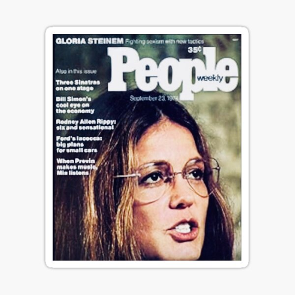 Gloria Steinem on cover of People Magazine Sticker