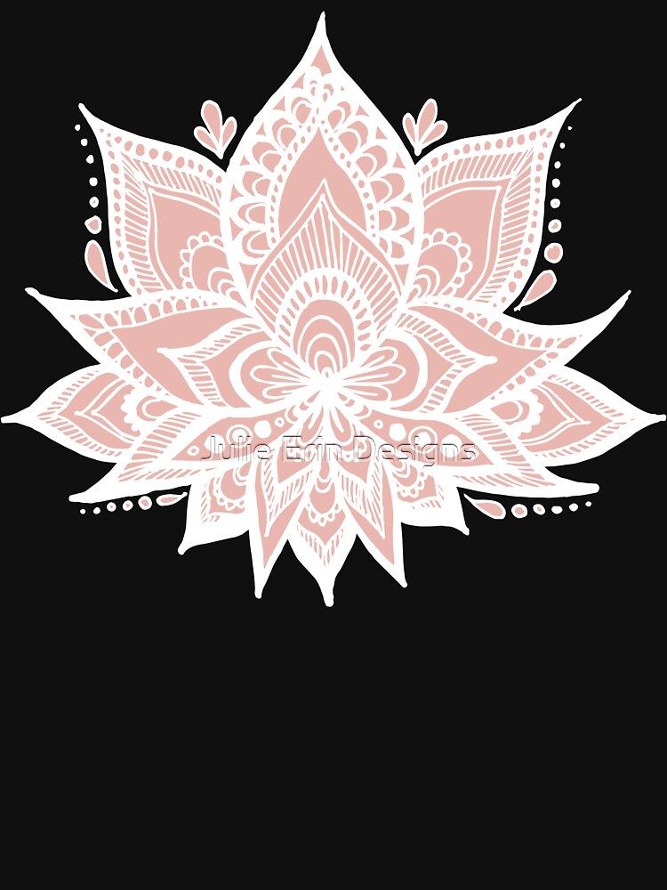White Lotus Flower on Rose Gold by julieerindesign