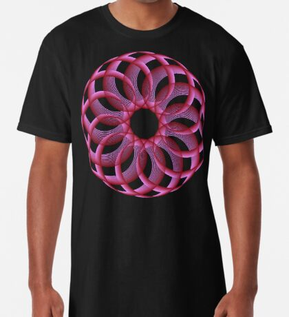 Spirograph with red Long T-Shirt