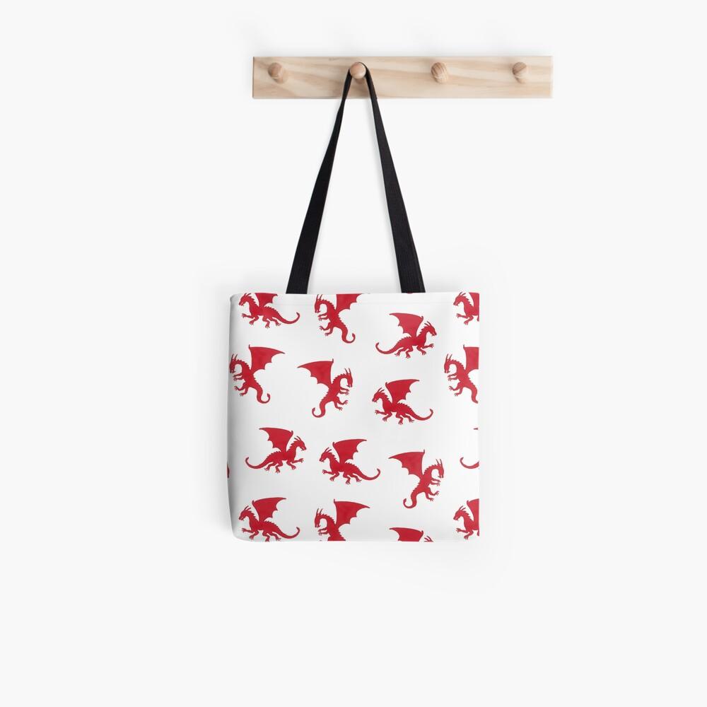 Red Dragons Pattern Tote Bag