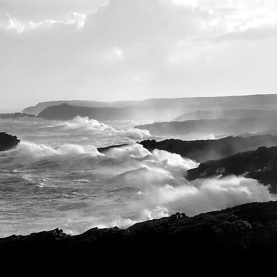 Ness, Isle of Lewis - White Horses by Kevin Skinner
