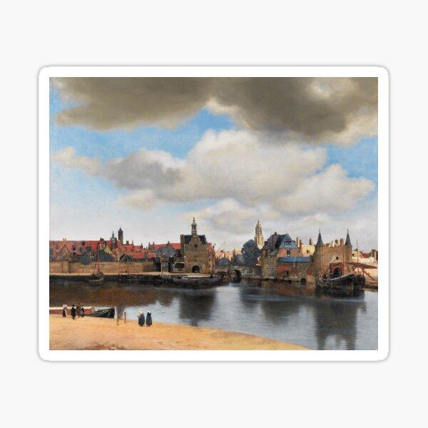 View of Delft (Vermeer) Sticker