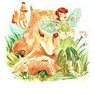 I hate pink dresses!- watercolour illustration by Donata Zawadzka