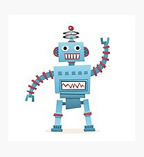 Cute and fun retro robot Photographic Print