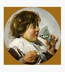 "Frans Hals ""Boy with a glass and a tin can"" Photographic Print"