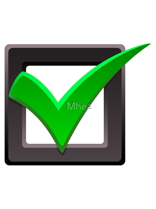 Red Tick Box : Quot green check mark and tick box sticker stickers by mhea