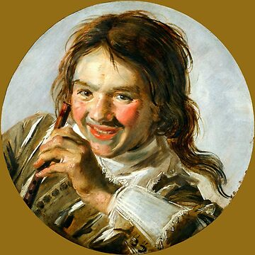 """Frans Hals """"Boy holding a Flute (Hearing)"""" by ALD1"""