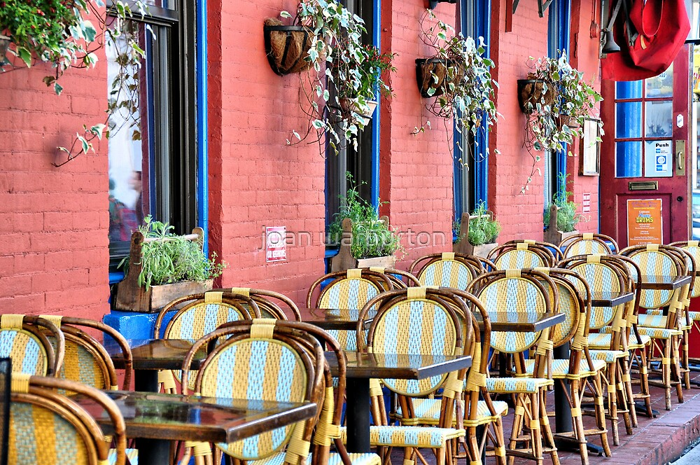 Outdoor Cafe SoHo by joan warburton