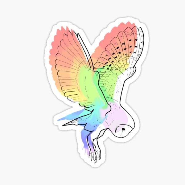 Watercolor Barn Owl Sticker