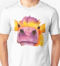 Cow face watercolor Unisex T-Shirt