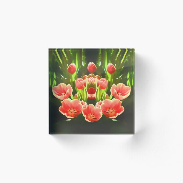 Tulips (digital painting) Acrylic Block
