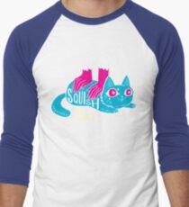Squish that Cat! Men's Baseball ¾ T-Shirt