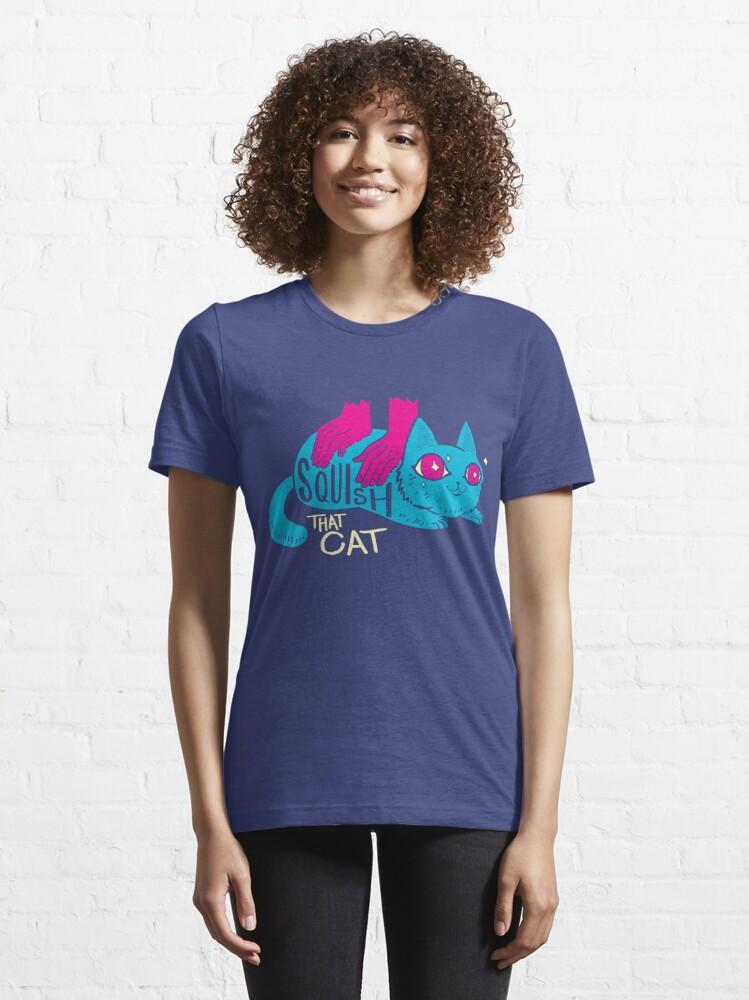 Alternate view of Squish that Cat! Essential T-Shirt