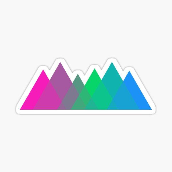 Polysexual Mountains Logo Sticker
