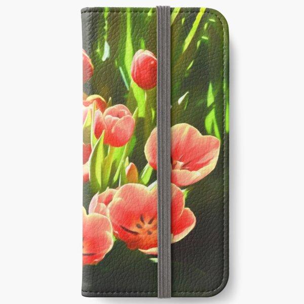 Tulips (digital painting) iPhone Wallet