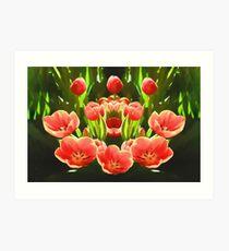 Tulips (digital painting) Art Print