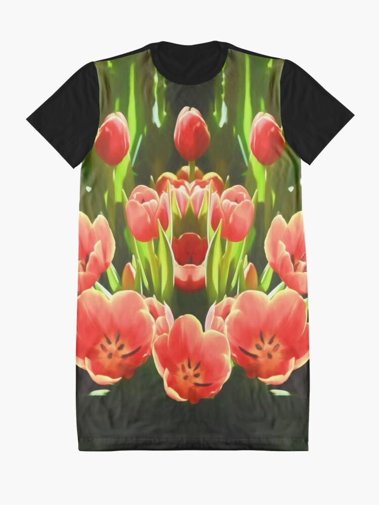 Alternate view of Tulips (digital painting) Graphic T-Shirt Dress