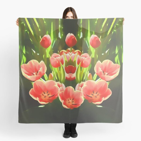 Tulips (digital painting) Scarf